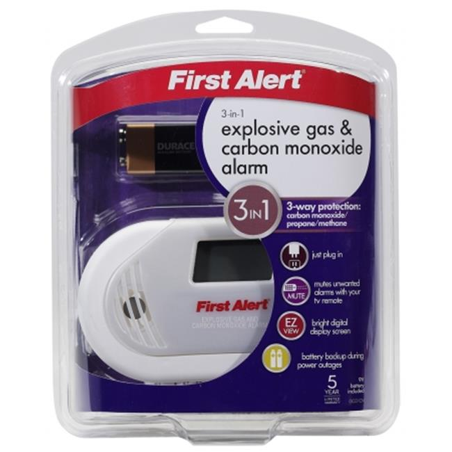 First Alert- brk - GCO1CN Combination Explosive Gas & Carbon Monoxide Alarm