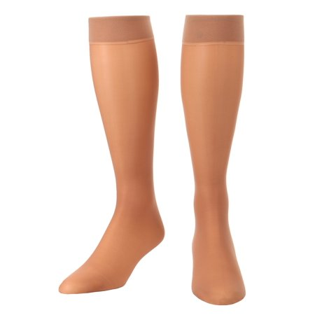 Sheer Compression Knee Highs, Made in the USA  Light Support Socks for Woman 8-15mmHg 1 Pair - Absolute Support, Sku: A107 (Support Stocking)