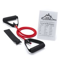Black Mountain Products Single Resistance Band with Door Anchor and Starter Guide Included, Red