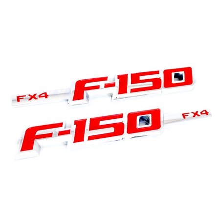Pair 3D Ford F-150 FX4 Pickup Body Front L/R Side Fender Emblem Badge Nameplate