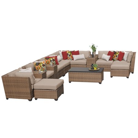 tuscan 14 piece outdoor wicker patio furniture set 14a