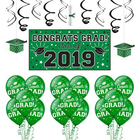 Party City Congrats Grad Graduation Decorating Kit, Includes a Banner, Balloons, and Hanging Decorations - Coupon For Party City