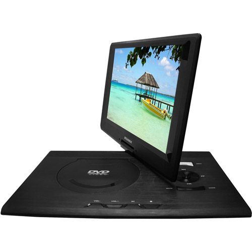 "Sylvania Premium 13.3"" Swivel Screen Portable DVD Player, Black"