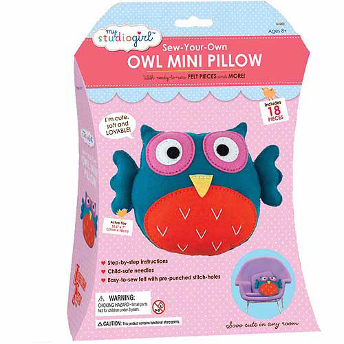 My Studio Girl Sew-Your-Own Owl Mini Pillow