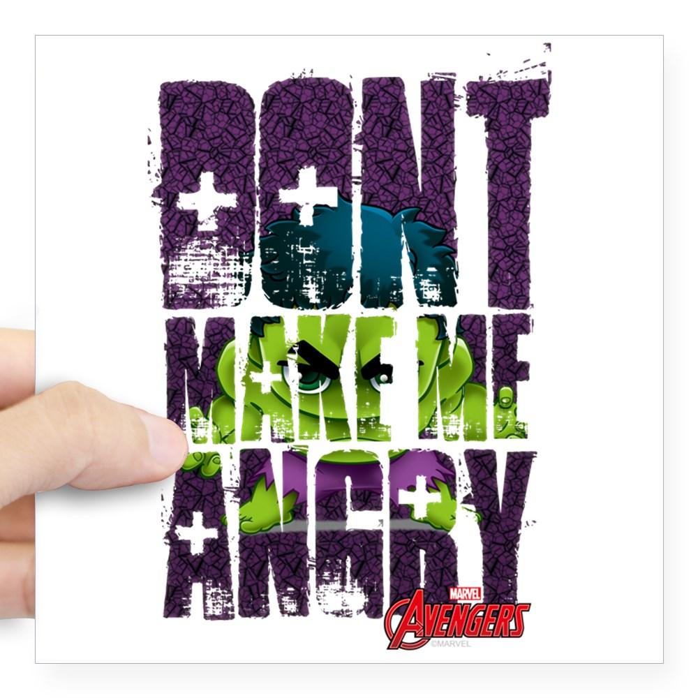 "CafePress - Chibi Angry Hulk Square Sticker 3"" X 3 - Square Sticker 3"" x 3"""
