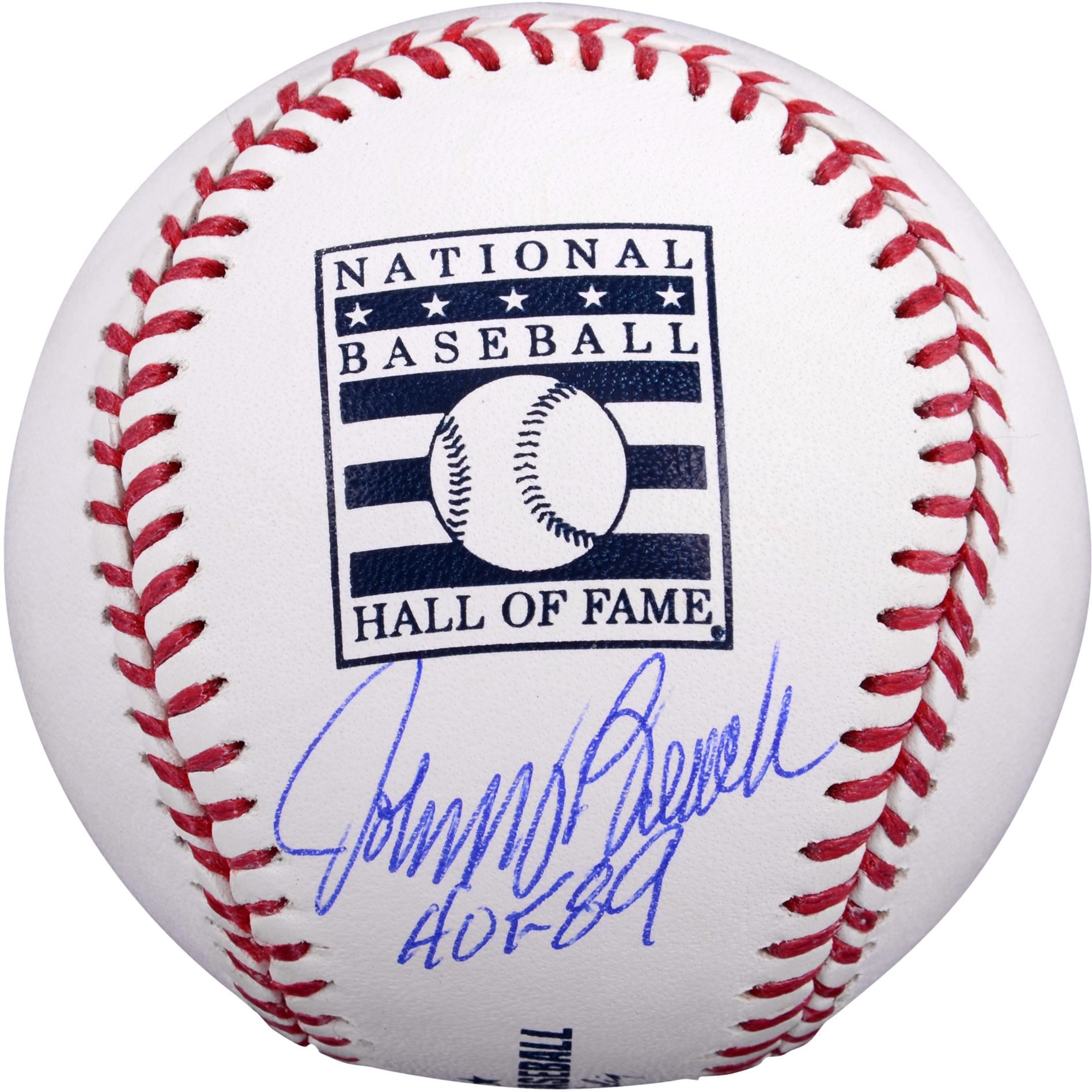 "Johnny Bench Cincinnati Reds Autographed Hall of Fame Baseball with ""HOF 89"" Inscription"