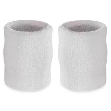 Suddora 4  Inch Sport Arm Sweatbands - Athletic Cotton Armbands Pair (White)  - Walmart.com 28d97b70ae6