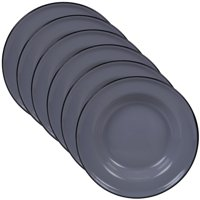 "Enamelware Grey Set/6 Salad Plate, 8"""
