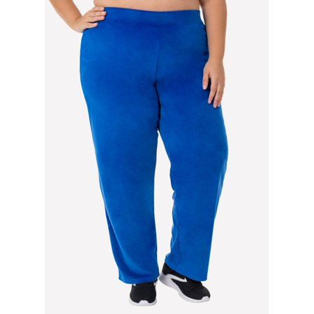 e9f1fe3088 Danskin Now Women's Plus Velour Relaxed Fit Pant - Walmart.com
