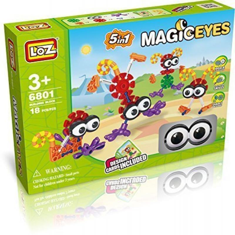 Park Fun Kids Magic Eye 5-In-1 18pcs Set. Learning Assembly Cards Included, Compare To Kids Knex Building... by