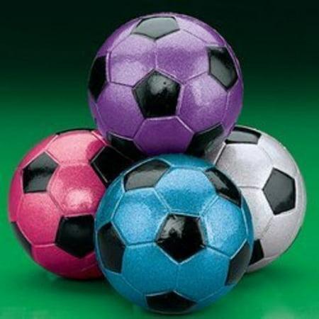 Cheap Soccer Balls In Bulk (METALLIC SOCCER BALL HANDBALLS (2 DOZEN) - BULK by)
