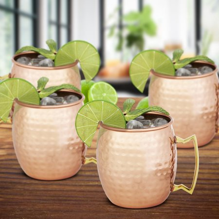 Chef's Star Set of 4 Handmade Hammered Copper Moscow Mule