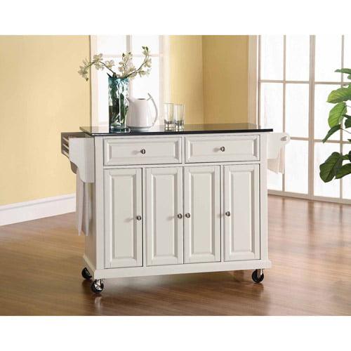 Crosley Furniture Solid Black Granite Top Kitchen Cart