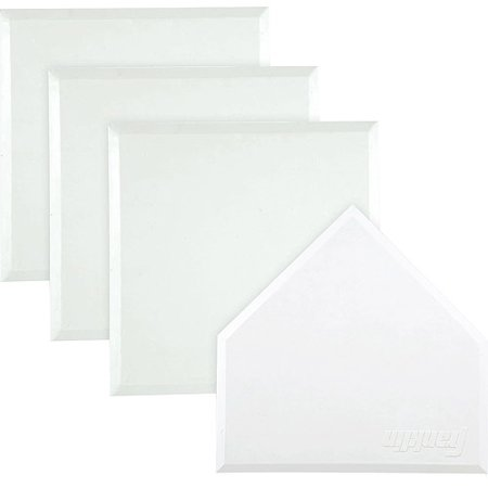 Franklin Sports MLB Heavy Duty Rubber Base Set - 4 White Throw Down Style Bases Bases One Piece Base