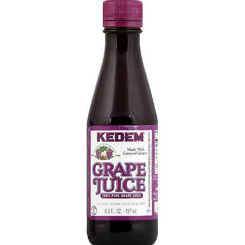 Kedem 100% Juice, Pure Grape, 6.3 Fl Oz, 12 Count