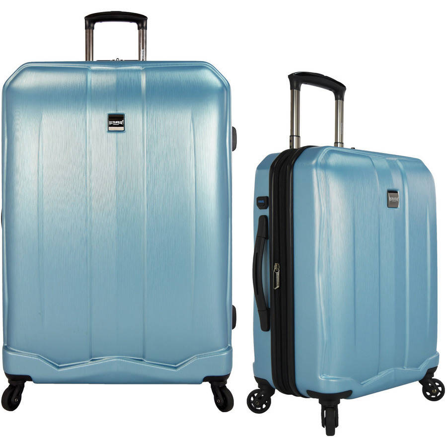 U.S. Traveler Piazza 2-Piece Smart Spinner Luggage Set, Multiple Colors