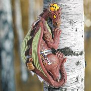 Outdoor Hand Painted Dragon Tree Climber Sculpture - Exclusive What On Earth
