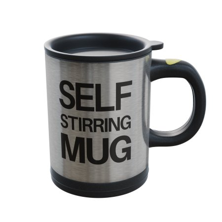Self Stirring Mug- Reusable Auto Mixing Cup with Travel Lid for Protein Mix, Bulletproof Coffee, Chocolate Milk, Hot Cocoa by Chef Buddy, 15 ozChef Buddy Self Stirring Coffee Hot Chocolate