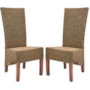 Safavieh Siesta 17''H Nautical Wicker Side Chair, Set of 2