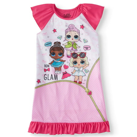 Girls' LOL Surprise Pajama Nightgown (Little Girl & Big - Girls Nightgown Cotton