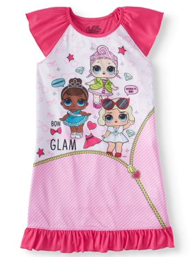 440e6c6c7 Product Image Girls' LOL Surprise Pajama Nightgown (Little Girl & Big ...