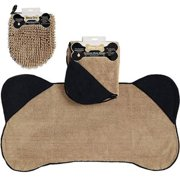 Design Imports COS31277 Taupe Pet Towel & Taupe Wash Mitt