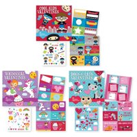 School Valentine Day Value Pack Featuring 90 Valentines & 150 Stickers, Kids Valentines Cards