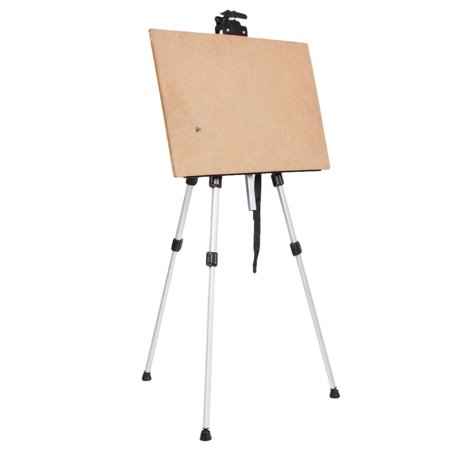 Easel Stand For Painting (Ktaxon Adjustable Height Folding Art Sturdy Drawing Easel Stand, 63 Inches Tall Telescoping Field Tripod for Tabletop or Floor, Painting Exhibition Whiteboard Holder, Wedding)