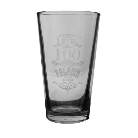 16oz WOW Level 100 Paladin Beer Glass