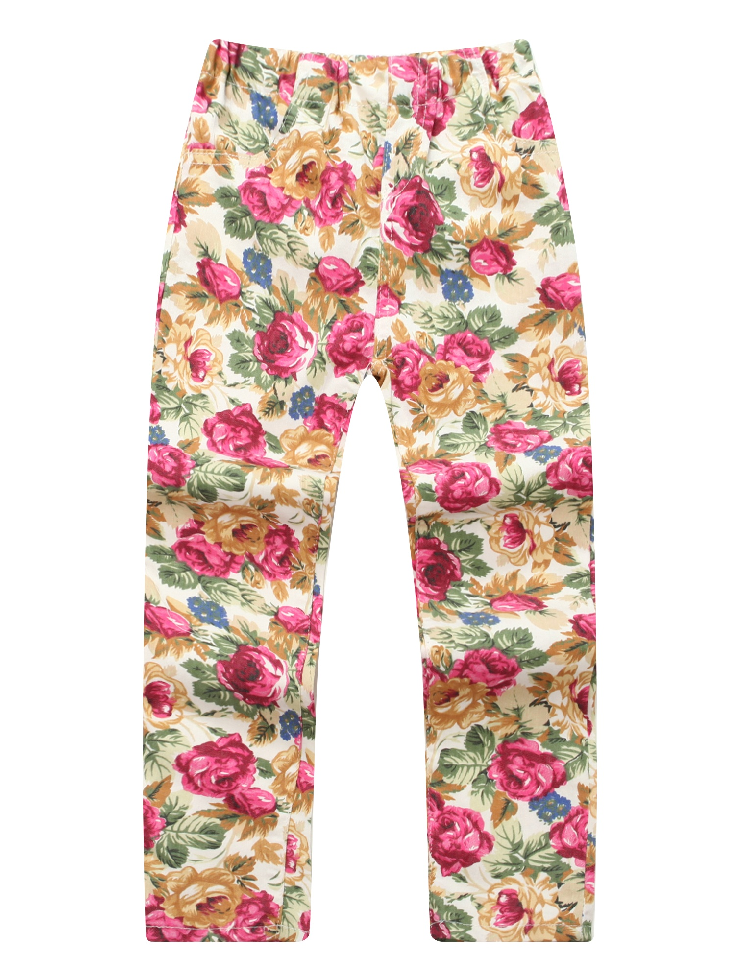 Richie House Girls' Pants with Colorful Flower Print RH1226