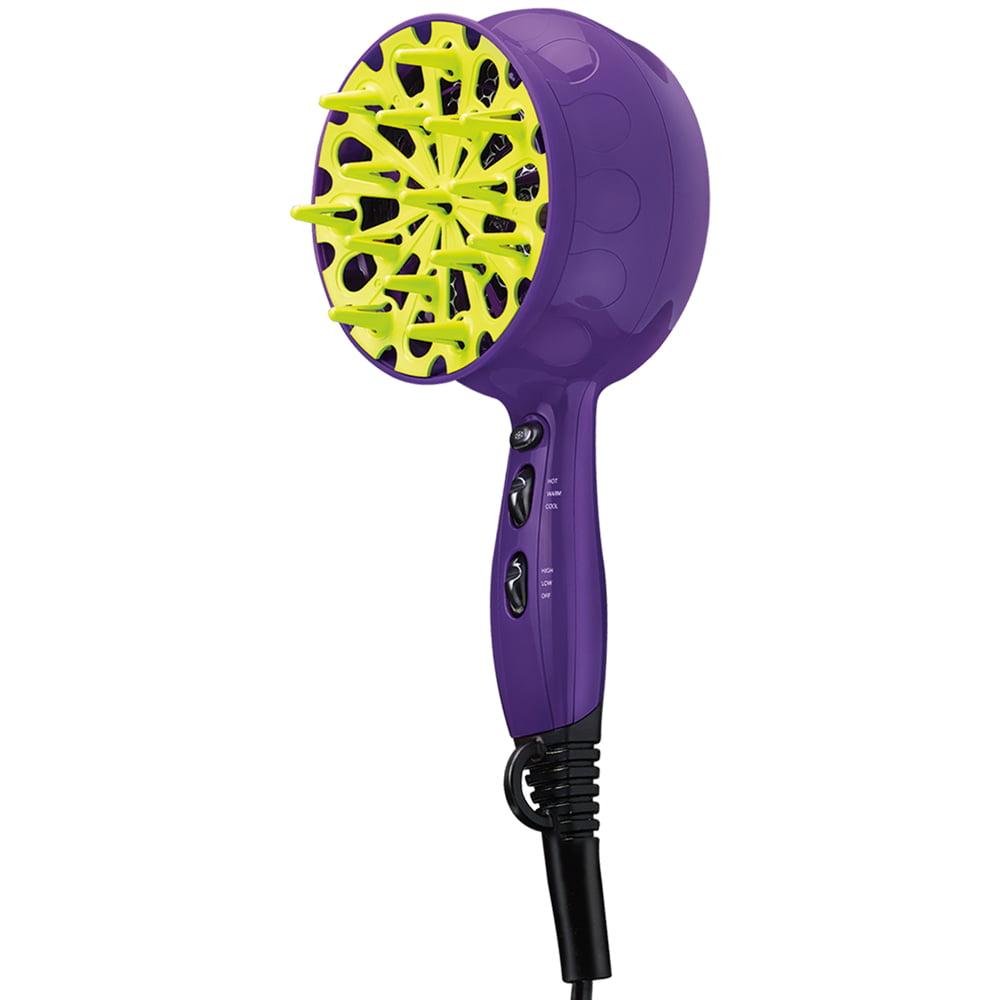 Bed Head Tigi Hair Dryer Volumizer, BH420 1875W Tourmaline, Purple With Diffuser