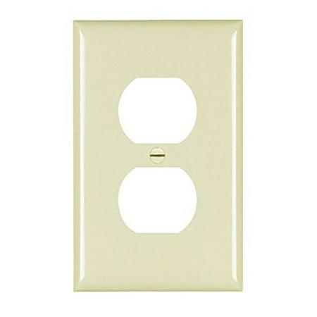 Pass and Seymour TPJ8-I Ivory Trademaster Jumbo Single Gang Duplex Receceptacle Wall Plate