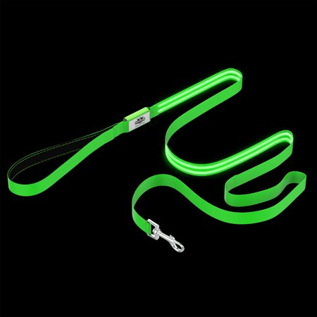 LED Dog Leash-Lights Up for Night Visibility and Safety-6' Leash With Padded Grip Handle, 3 Flash Modes-For Evening Walks or Runs by Petmaker