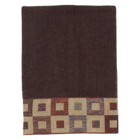 Precision Embroidered Bath Towel - Mocha