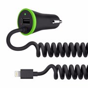 iTD Gear 3.4A Fast Car Charger with Coiled 8 Pin Cable??