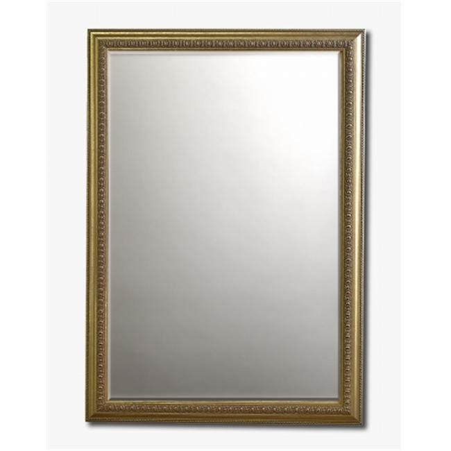 Barewalls 448085 Beveled Mirror Framed in Rococo Silver