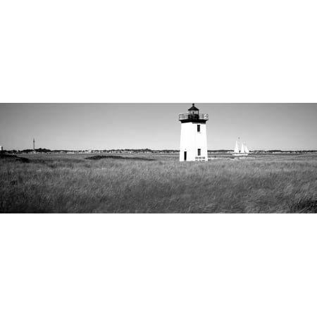 Lighthouse On The Beach Long Point Light Long Point Provincetown Cape Cod Barnstable County Massachusetts Usa Canvas Art   Panoramic Images  7 X 18