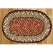 Capitol Earth Rugs 08-019 Burgundy-Mustard Jute Braided Rug