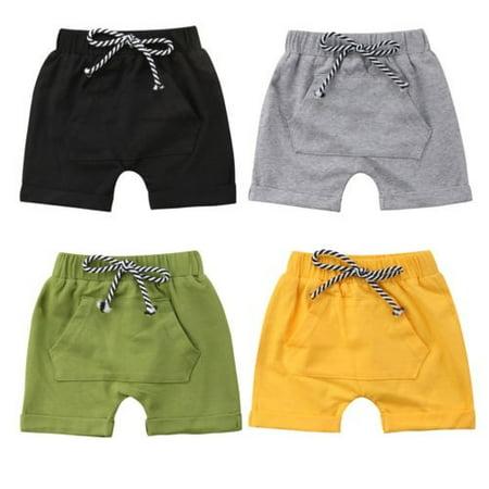Toddler Infant Kids Baby Boy Girl Casual Shorts Pants  Harem Jogger Trouser - image 1 de 5