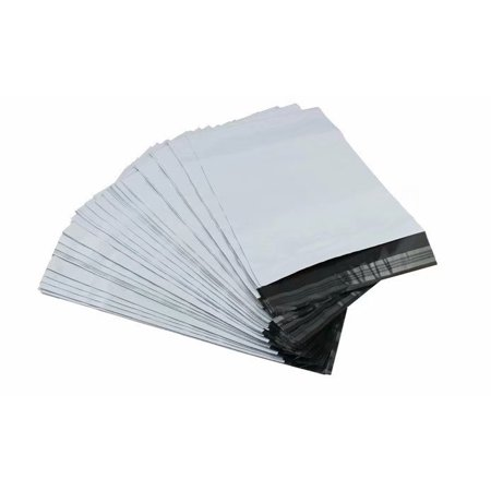 Poly Envelope Mailers 200 Pcs 10x14 inch (25x35cm) 2.4mil White Shipping Bags Mailer Bags Postal Bags Self Adhesive, Waterproof and Tear-Proof Shipping Supplies for Non-Fragile Items Clothes (Postal Approved Mailing Bags)