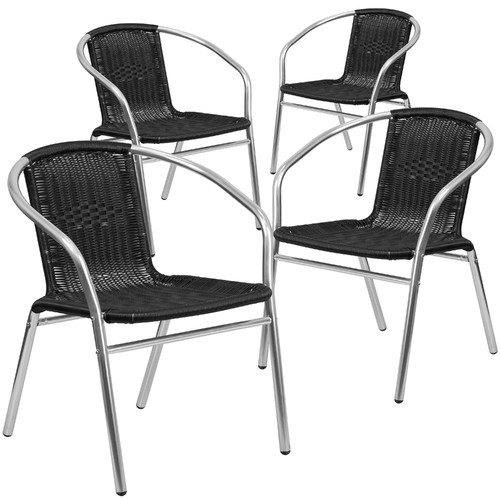 Flash Furniture Stacking Patio Dining Chair (Set of 4)