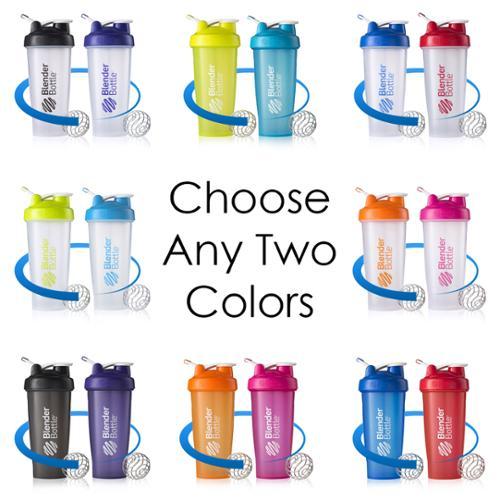 Blender Bottle 2-Pack Classic 28 oz. Shaker w/ Loop Top - Clear/Pink & Black