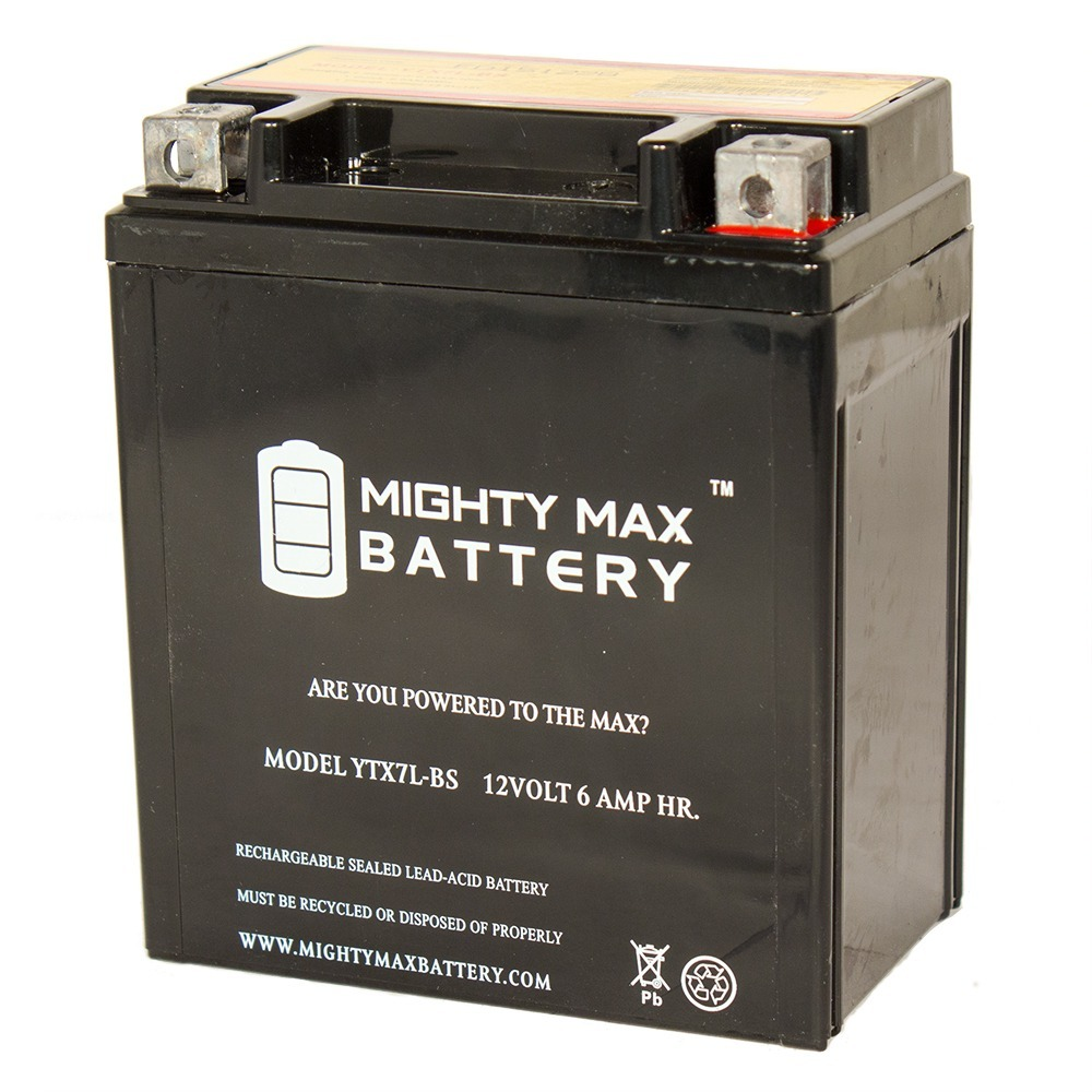 YTX7L-BS REPLACEMENT FOR ADVENTURE POWER AGM MAINTENANCE FREE BATTERY