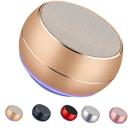 Homeholiday Bluetooth 4.1 Mini Round Type Metal Case Speaker Indoor Outdoor Portable Wireless Rechargeable Sound Box - image 7 of 8