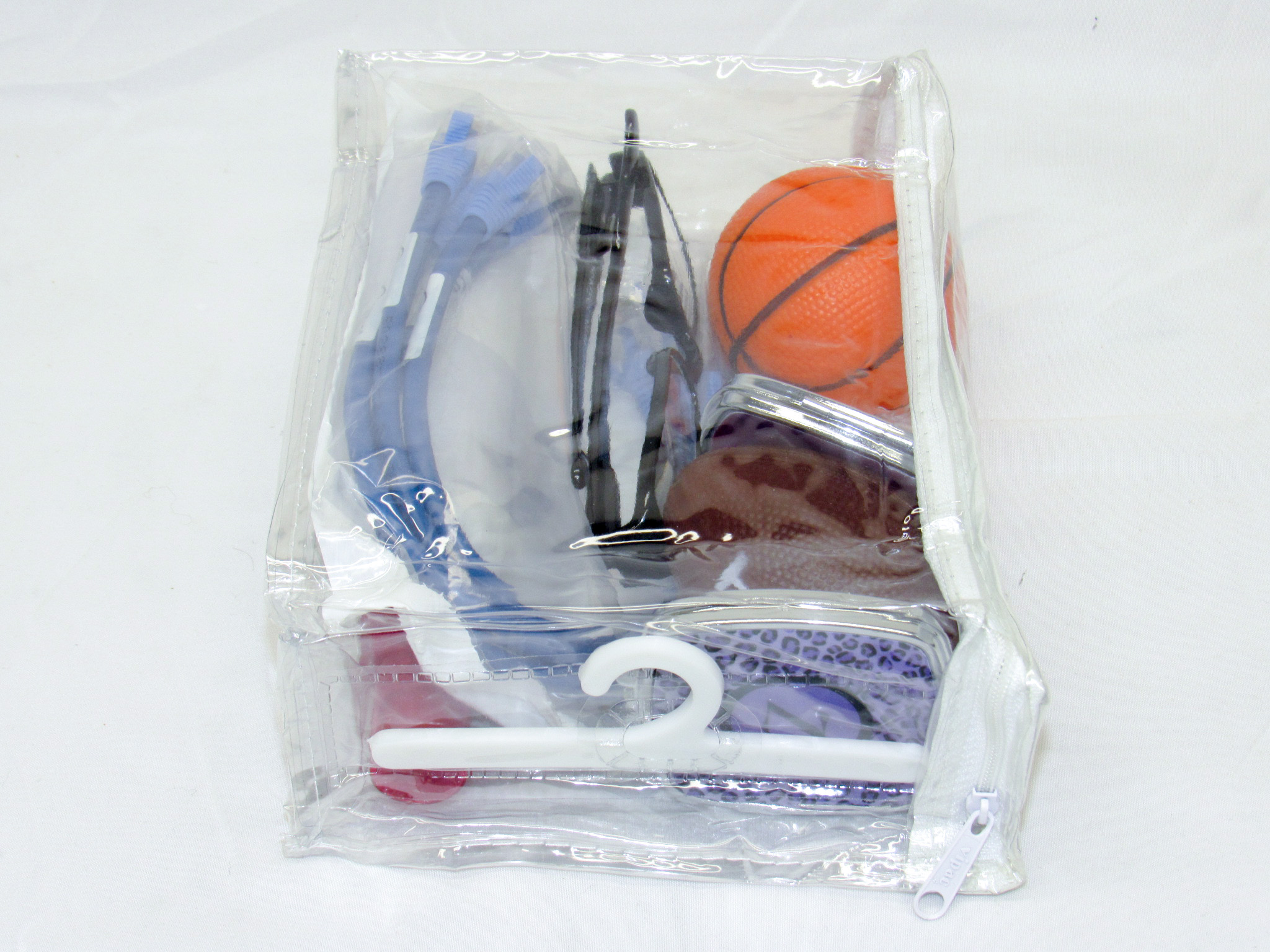 """8/"""" x 6/"""" x 2.5/"""" 8-pack Clear Heavy Duty Vinyl Zippered See-Through Storage Bags"""