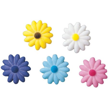 Small Daisies Sugar Decorations Toppers Cupcake Cake Cookies Flower Favors Party 12 Count](Purple Minion Cupcakes)