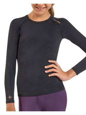 54c09f3e Product Image Tommie Copper Girl's Core Long Sleeve Raglan Crewneck T-Shirt  Large Black