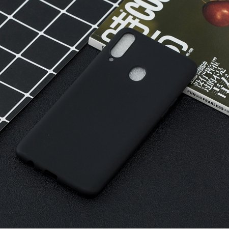 For Samsung A10S A20S Shockproof TPU Back Cover Soft Candy Color Frosted Surface Mobile Phone Case Color:black Style:Samsung A20S - image 4 of 8