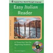 Easy Reader: Easy Italian Reader W/CD-ROM: A Three-Part Text for Beginning Students (Other)