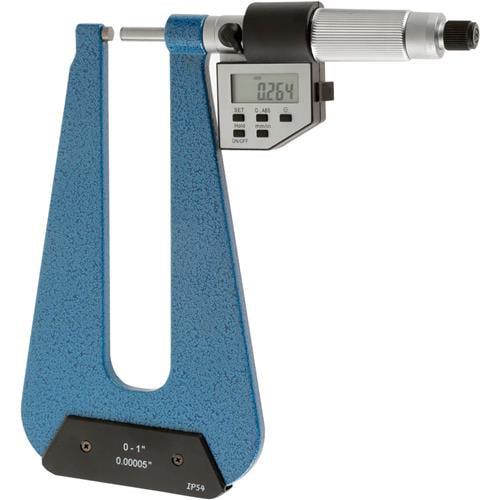 "Grizzly G9779 Digital Deep Throat Micrometer 0-1"""